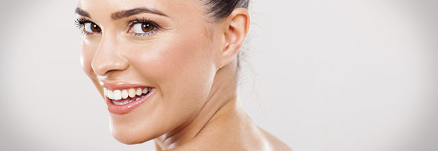Face rejuvenation treatment gives woman enhanced skin and features
